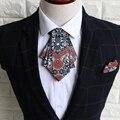 Nuevo Envío de la manera masculina de LOS HOMBRES de negocios de Corea del vestido de las mujeres negro cuello Británico Padrinos de boda del novio corbata de lazo a la venta