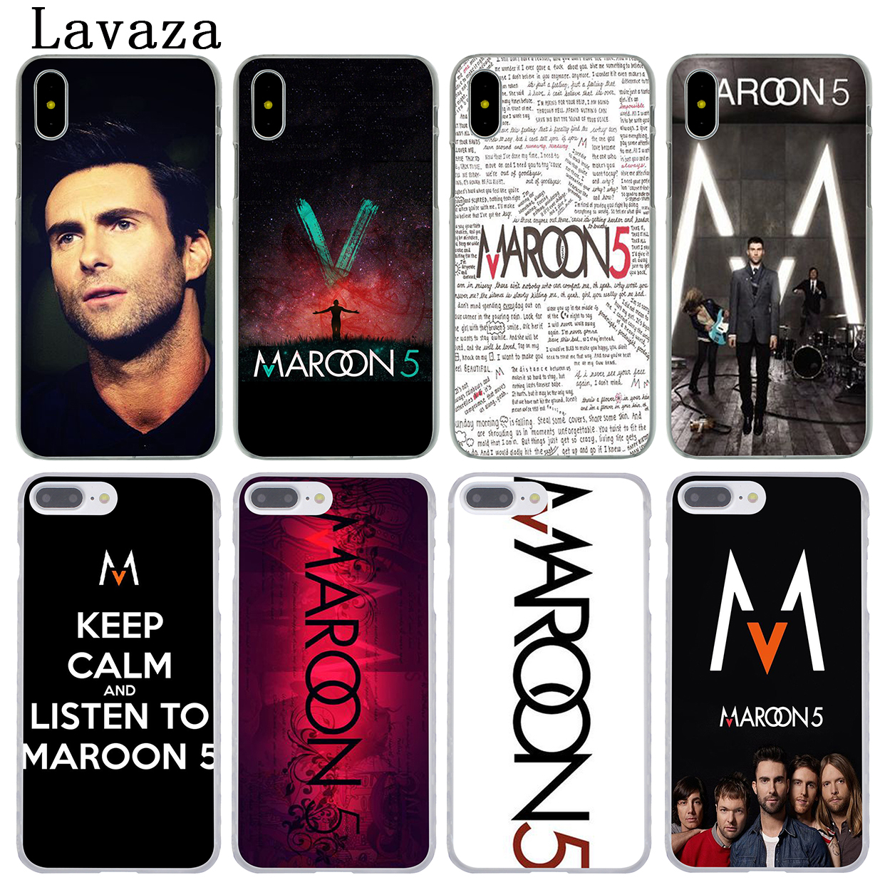 Lavaza maroon 5 Hard Phone Coque Shell Case for Apple iPhone X 10 8 7 6 6S Plus 5 5S SE 5C 4 4S Cover