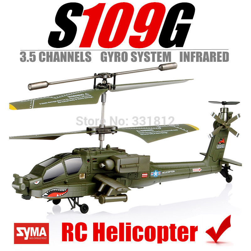 Syma S109G RC Helicopter Gyro System Remote Control Toys helicoptero de controle remoto 3.5 Channel mini hot new year children girls fancy cosplay dress snow white princess dress for halloween christmas costume clothes party dresses