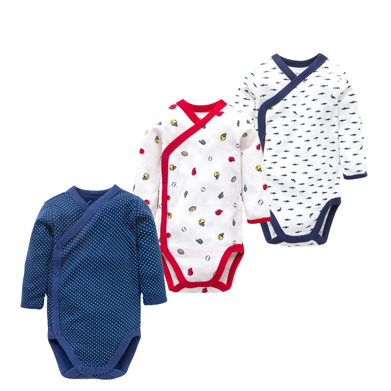 3PCS/LOT Spring Autumn Baby Clothing 2018 New Baby Rompers Newborn Infant Baby Boy Girl Cartoon Baby Unisex Jumpsuit