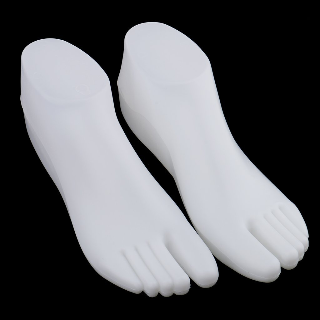 1 Pair Female Feet Mannequin For Foot Thong Style Sandal Shoe Sock Display