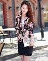 2016 primavera nova impressão senhora pequena terno terno do lazer parágrafo curto feminino jaqueta