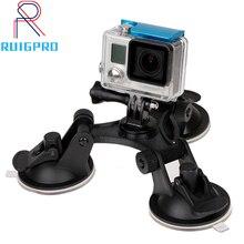купить Large/Small Size Car Windshield Suction Cup for GoPro Hero 6 5 7 Session Sjcam H9 Yi 4K Action Camera Tripod Holder Mount дешево