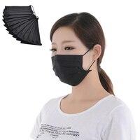 10 шт./упак. одноразовые черная нетканая маска для лица медицинская зубная серьга анти-пыль грипп хирургический респираторные маски открытый рот
