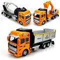 3 unids/set Gran camión juguetes vehículos de ingeniería Aleación Tire Hacia atrás del camión mezclador de camiones volquetes excavadoras juguetes para niños kids car modelo