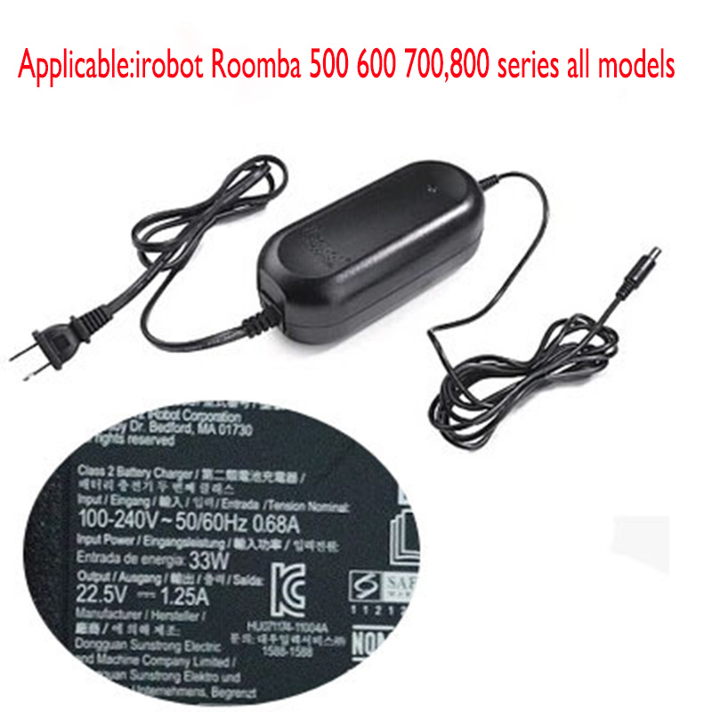 Power Adapter for irobot Roomba 527 530 550 551 560 595 620 630 650 760 770 780 Vacuum Cleaner Parts 5 6 7 8 series all models битоков арт блок z 551
