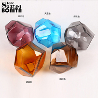 Modern Hanging Lamps Ice Cubes Crystal Glass droplight loft Colorful LED Stone design lamp pendant lighting