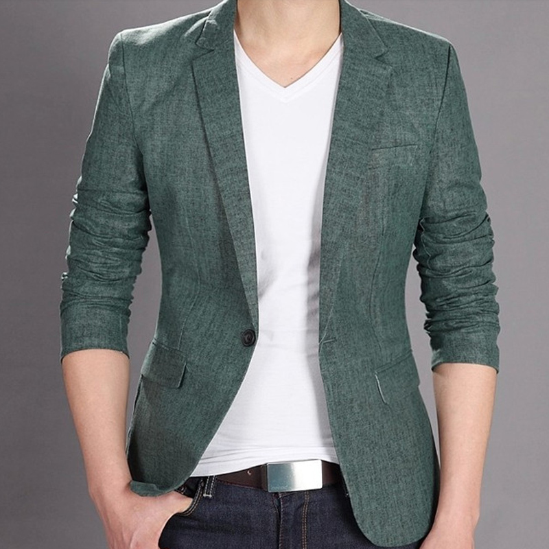2014 Spring Summer New Fashion Formal Men Red Green Blue Slim Fit Suit Collar Dress Blazer