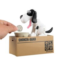 Piggy Bank Automatic Stealing Coins Dog Puppy Hungry Bank Coin Eating Save Saving Canine Money Boxes Home Decoration
