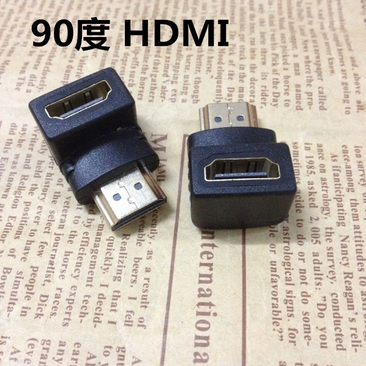 HDMI 90 degree right angle elbow 90 degree angle HDMI male to female converter head extension head adapter