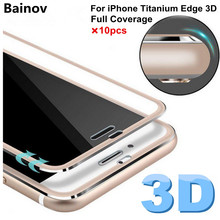 Bainov 10Pcs/lot 3D Edge Curved Tempered Glass For iPhone 6 6s Titanium Protective Film Screen Protector For iPhone 7plus