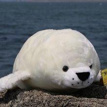 Около 48 см белая плюшевая игрушка-тюлень высокого качества Подушка подарок на день рождения b4802