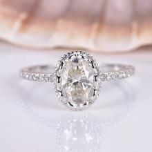 HUITAN Classic Oval Wedding Engagement Ring With Dazzling Clear Crystal Stone Romantic Simple Band For Women Wholesale Lots