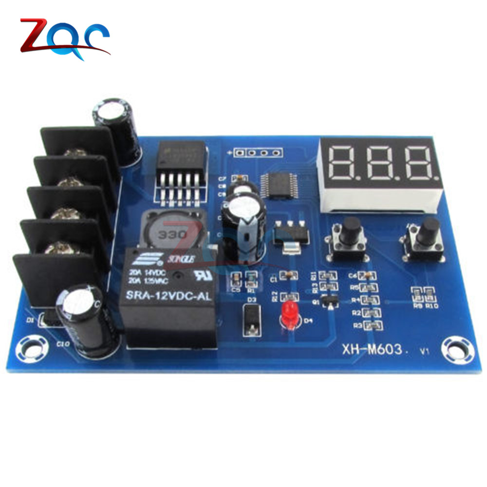 Image 4 - XH M603 Charging Control Module 12 24V Storage Lithium Battery Charger Control Switch Protection Board With LED Display-in Instrument Parts & Accessories from Tools