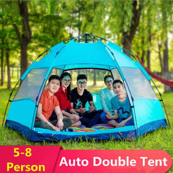4-6 Person 290*200*130cm Waterproof Windproof Large Camping throw Tents Automatic Tents Climbing Hiking Hot 2018 New ANTI-UV