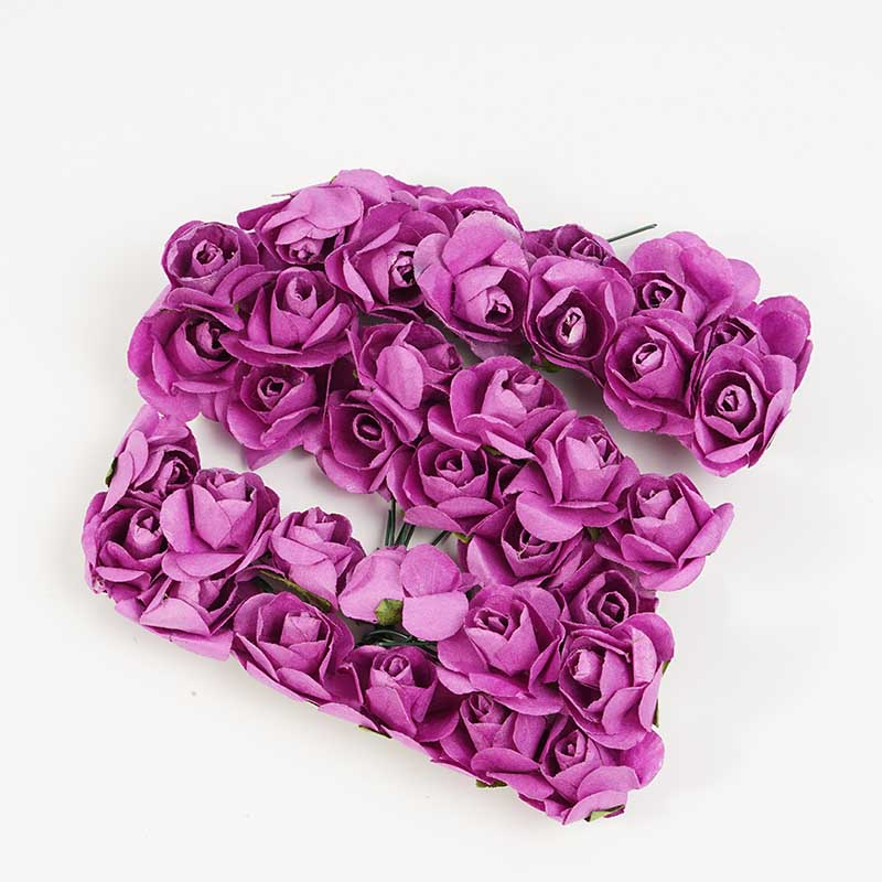 144 шт./лот коробка для сладостей для самостоятельной сборки цветок Декоративный венок аксессуары Искусственные мини бумажные розы VWF3507