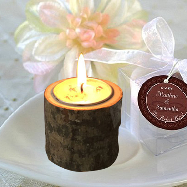 Rustikalen Holz Kerze Teelicht Halter Hause Stabile Dekoration