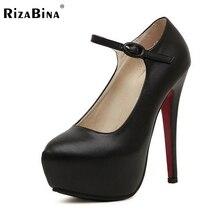 ผู้หญิงรองเท้าส้นสูงเซ็กซี่ชุดหัวเข็มขัดรองเท้าแฟชั่นผู้หญิงแพลตฟอร์มเท้ารอบหญิงปั๊มP15948ขายร้อน35-40