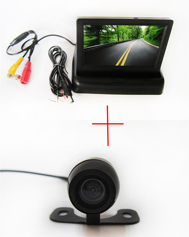 Waterproof Vehicle Car Rear View Backup Camera High definition 150 Degree Viewing Angle with Foldable 4.3 Inch Color LCD Screen