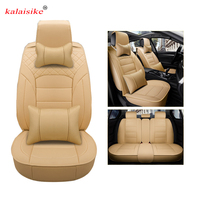 Kalaisike Leather Universal Car Seat Covers For Jeep All Models Cherokee Compass Renegade Grand Cherokee Car