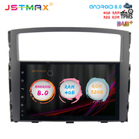 JSTMAX 9 Android 8.0 Car GPS Player for Mitsubishi Pajero V97 V93 2006 2011 with Octa Core 2GB Ram Auto Radio Multimedia DAB+