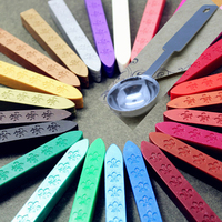 5pcs Sealing Wax 1pcs Spoon Retro Seal Stamp Winered Vintage Wax Stick Vino Tinto Sellado Sax