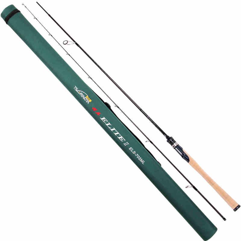 Trulinoya Casting Fishing Rod L Power 1.95M 2 Sections Carbon Rod with FUJI Ring Elite ELC 652L Canas de pesca