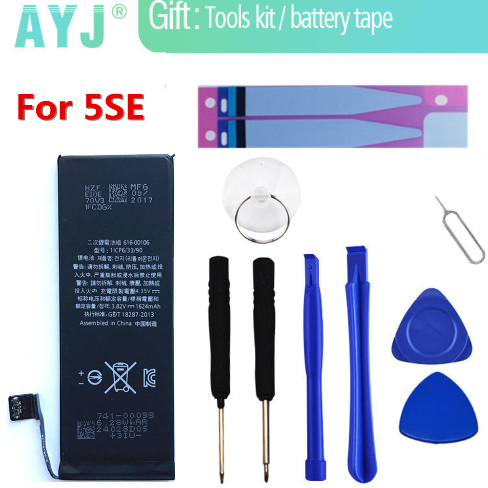 AYJ Phone-Battery Original Replacement-Batteries Apple For IPhone/Se/5se Bateria Real-Capacity