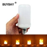 BUYBAY E27 E26 2835 LED Flame Effect Fire Light Bulbs 7W Creative Lights Lamp Flickering Emulation