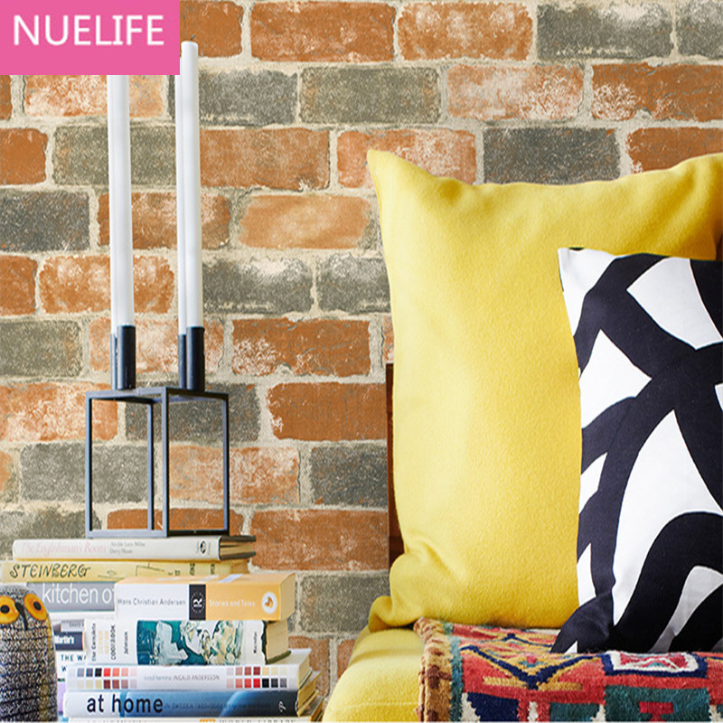 0.53x10 Meter Chinese Brick Pattern Non-woven Wallpaper Office Living Room Bedroom Wedding Room TV Background Wallpaper