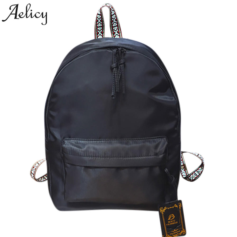 Aelicy Unisex Backpack Women Leisure Travel Backpacks for Teenage Girls Cool Contrast Color Preppy Style School Bags Mochila