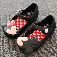 2017 summer Cute children baby toddlers young girls children jelly shoes size 13-15.5 cm Mini SED sandals melissa sandalet girl