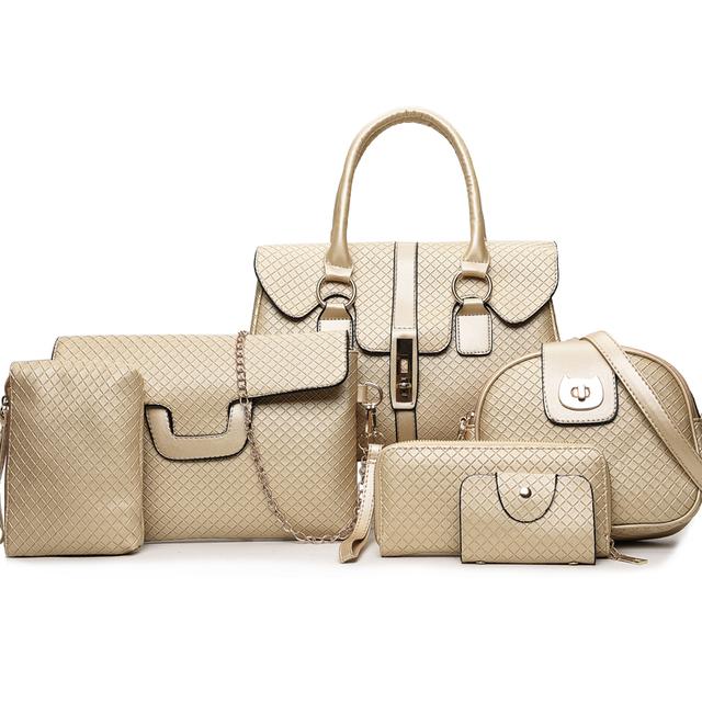 New Wild Child Bag Fashion Shoulder Diagonal Ladies Tide Fashion Six-Set Ling Check Handbag