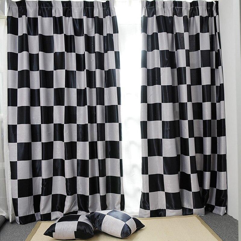 mediterranean style modern curtain black and white window shades