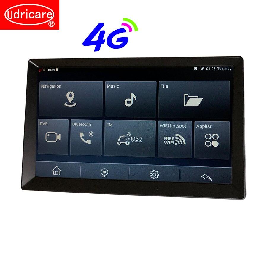 Udricare 10 pouces Android 8.1 carte SIM voiture camion Bus Bluetooth téléphone WiFi GPS Navigation 16GB Full HD 1080P enregistreur vidéo DVR