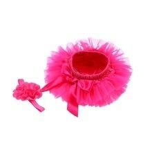Шорты-шаровары с юбкой-пачкой для маленьких девочек+ повязка на голову с цветочным рисунком, шифоновая накидка на подгузник с оборками для маленьких девочек, штанишки для малышей, одежда