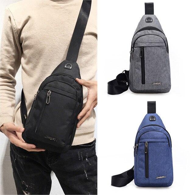 2019 New sac homme Men Small Bag Wild Messenger Bag Fashion One Shoulder Plaid Chest Bag bandolera hombre #P20