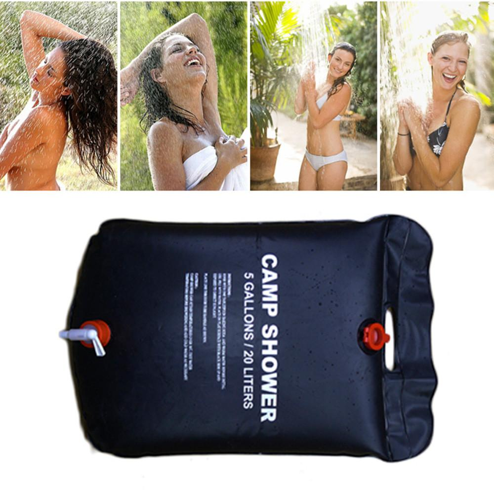 20L Outdoor Hiking Folding Solar Camping Shower Water Bathing <font><b>Bag</b></font> Traveling Camp Portable Shower Bath Packs High Quality20L Outd