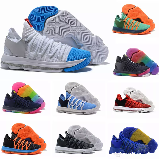 new style b2e97 4f34c US $59.6 10% OFF New Zoom KD 10 Anniversary Red Still Kd Igloo BETRUE Oreo  Men Basketball Shoes USA Kevin Durant Elite KD10 Sneakers-in Basketball ...