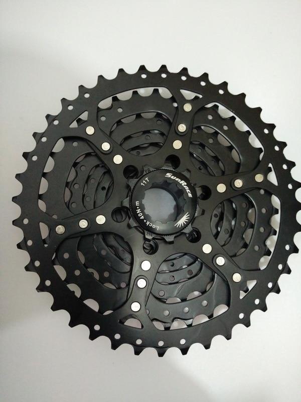Цена за SunRace 9 Скорость 11 40 Т CSM990 Велосипед Горный Велосипед Кассета Свободного Хода Инструмент MTB Маховик Велосипед Части 9 ступенчатая