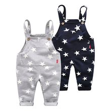 Spring And Autumn Children's Clothing Stars Printed Boys Jumpsuit Kids Pants kids clothes christmas gift boys clothing autumn winter kids boys clothing set hooded letter printed thick fleece red black hoodies and pants children christmas clothes