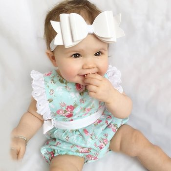 Cute Newborn Baby Girls Lace Floral Jumpsuit Outfits One-Pieces Clothes 0-24M conjuntos casuales para niñas