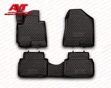 Коврики для hyundai IX35 2010-4 шт.. резиновые коврики Нескользящие резиновые интерьерные автомобильные аксессуары для укладки