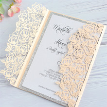 Dusty pink winter fall invitation marriage snowflake laser with glitter silver linning wedding party supply