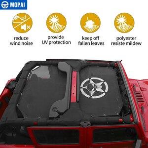 Image 2 - Mopai 2/4 ドア車トップサンシェードカバー屋根の抗uv太陽保護メッシュネットジープラングラーjk 2007 2017 車アクセサリースタイリング