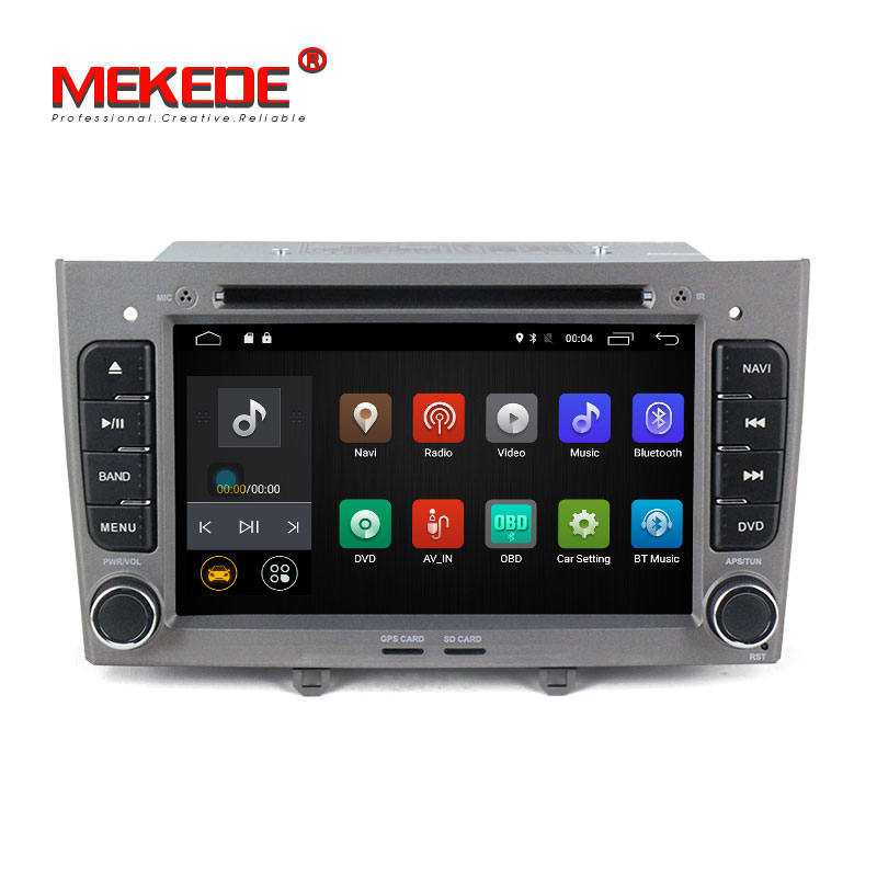 Mekede M518 Pure Android 7 1 Car DVD player for Peugeot 308 408 with car GPS