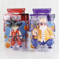 Dragon Ball Anime Master Roshi Kame Sennin Son Goku Boxed PVC Action Figure Collection Model Dolls Toys 2pcs/lot