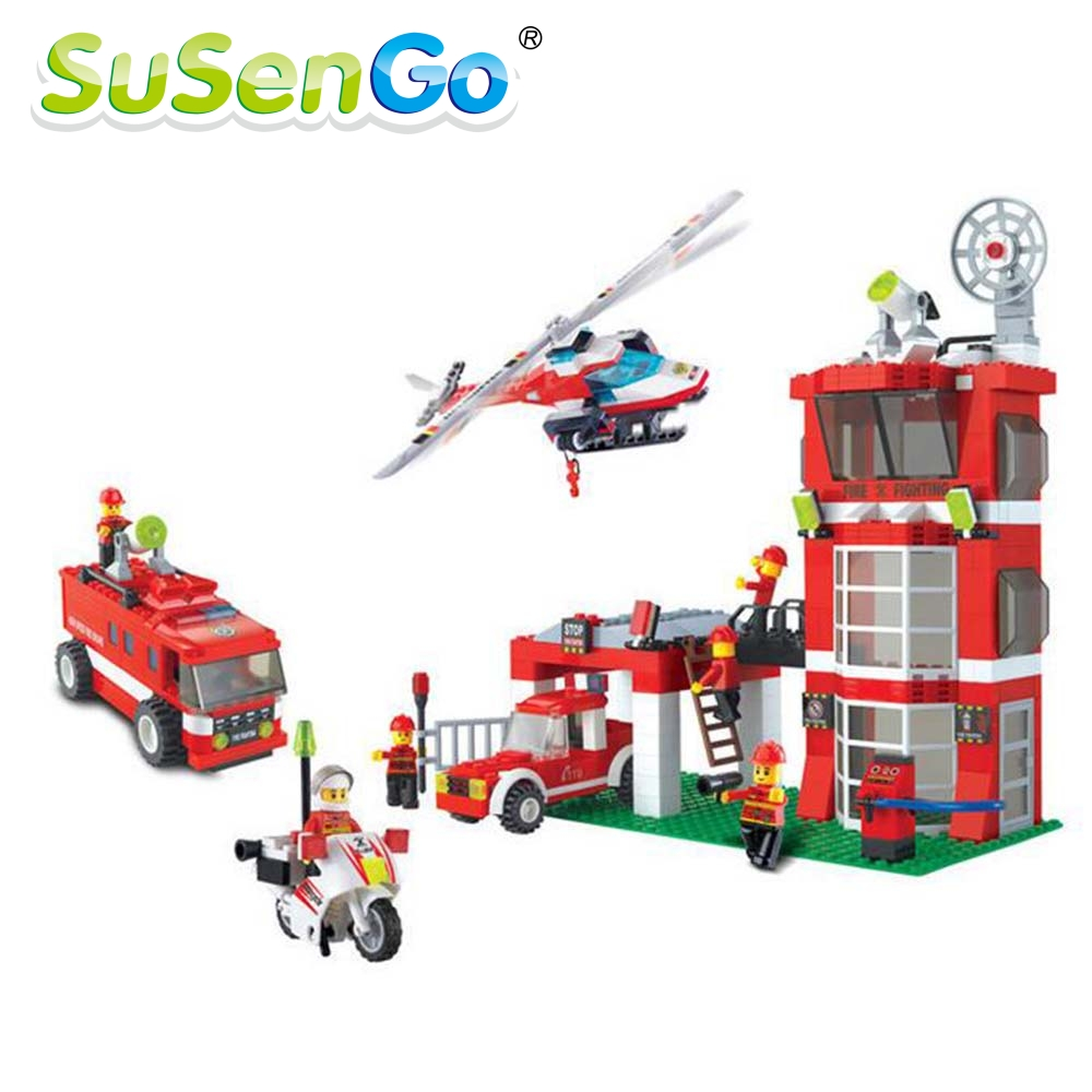 ФОТО Fire Department Headquarters Building Block Kids Toys Compatible with Lego