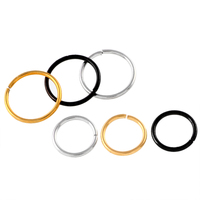 10Pcs Lot 316L Surgical Steel 18G Nose Ring Septum Hoop Seamless Rings Silver Anodized Gold Black