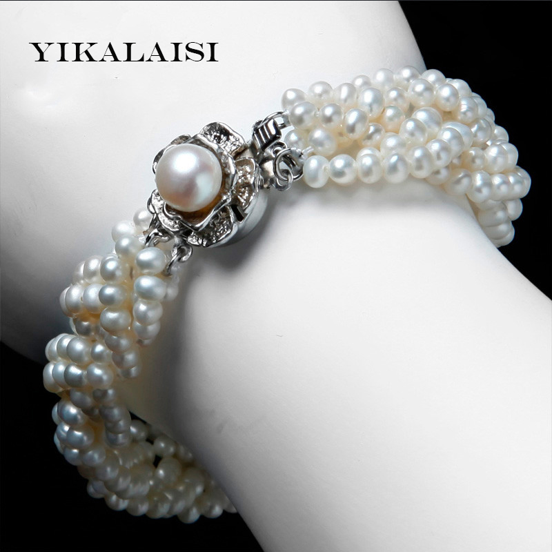 2017 New Bracelet Pearl Jewelry 925 Sterling Silver Winding Bracelet & Bangles 100% Natural Freshwater Pearl Bracelet For Women 925 silver butterfly bracelet hand woven natural freshwater pearl bracelet filigree butterfly bead jewelry